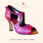 Carlita in fuchsia-red-orange